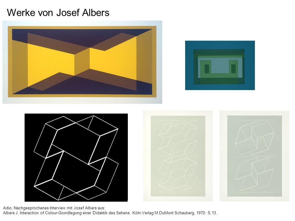 Werke von Josef Albers Adio, Nachgesprochenes Interview mit Josef Albers aus: