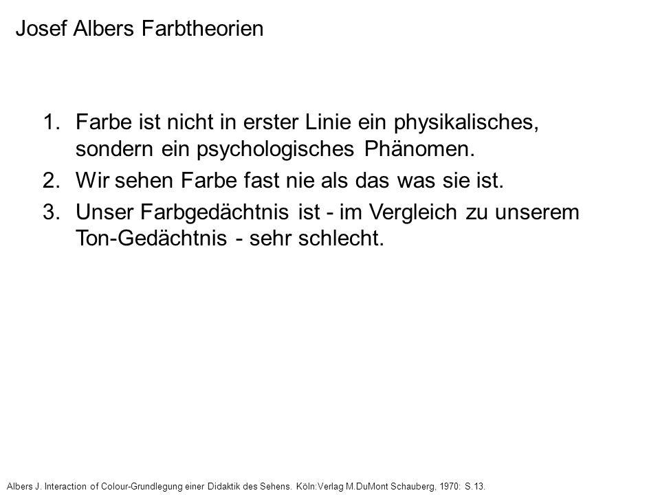 Josef Albers Farbtheorien