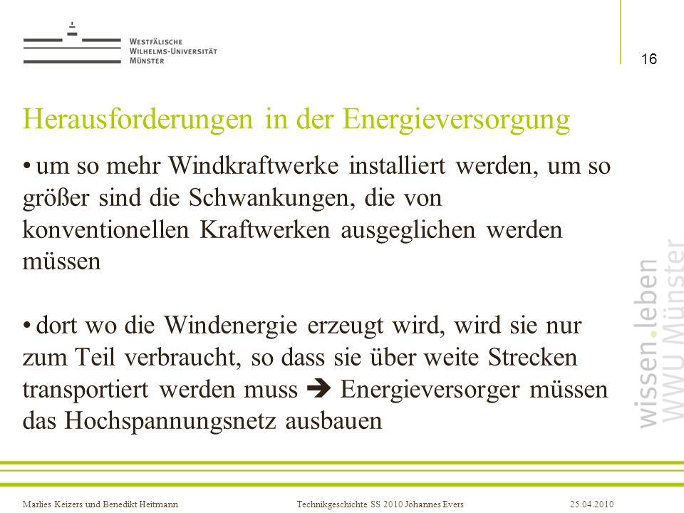 Herausforderungen in der Energieversorgung