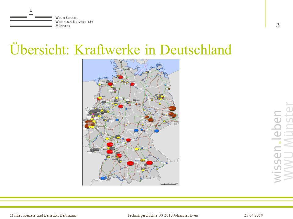 Übersicht: Kraftwerke in Deutschland