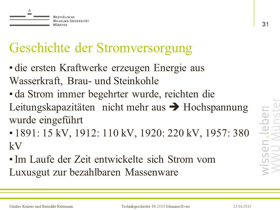 Geschichte der Stromversorgung