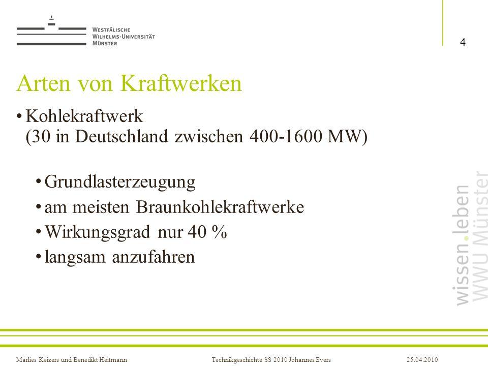 Arten von Kraftwerken Kohlekraftwerk