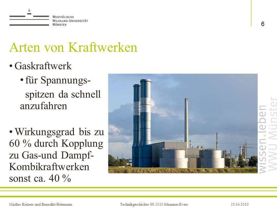Arten von Kraftwerken Gaskraftwerk für Spannungs-