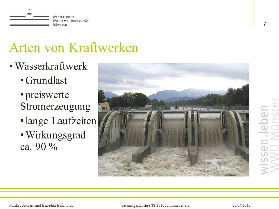 Arten von Kraftwerken Wasserkraftwerk Grundlast