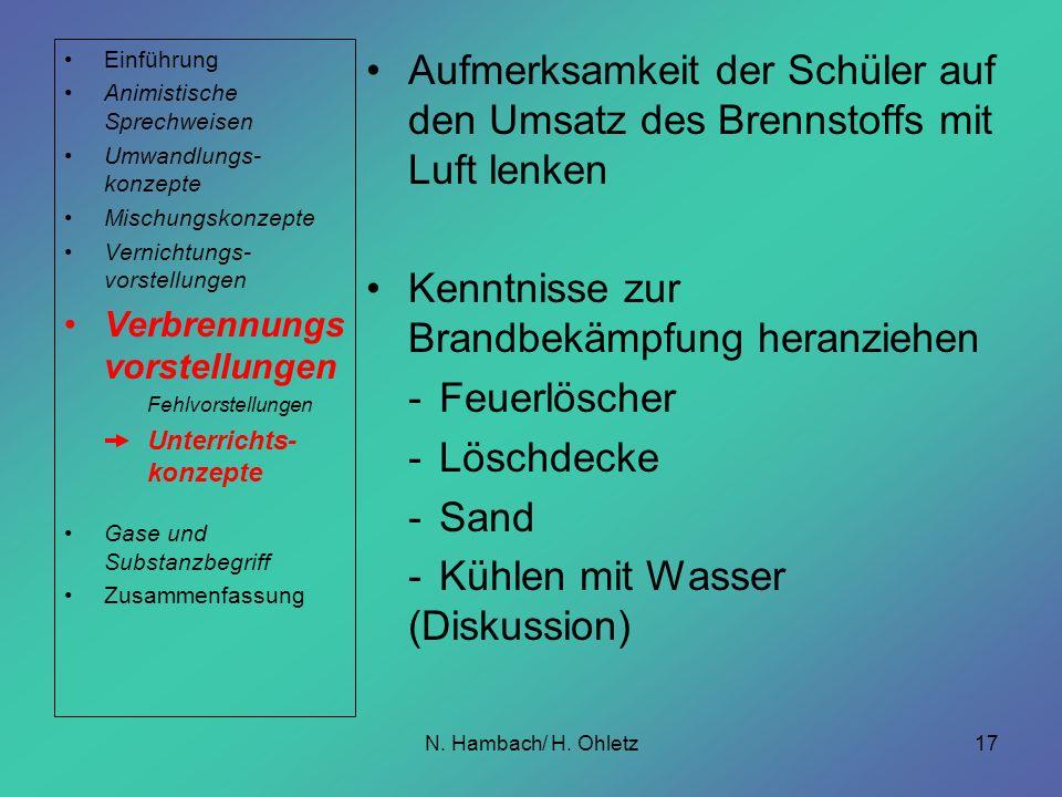 Kenntnisse zur Brandbekämpfung heranziehen - Feuerlöscher - Löschdecke