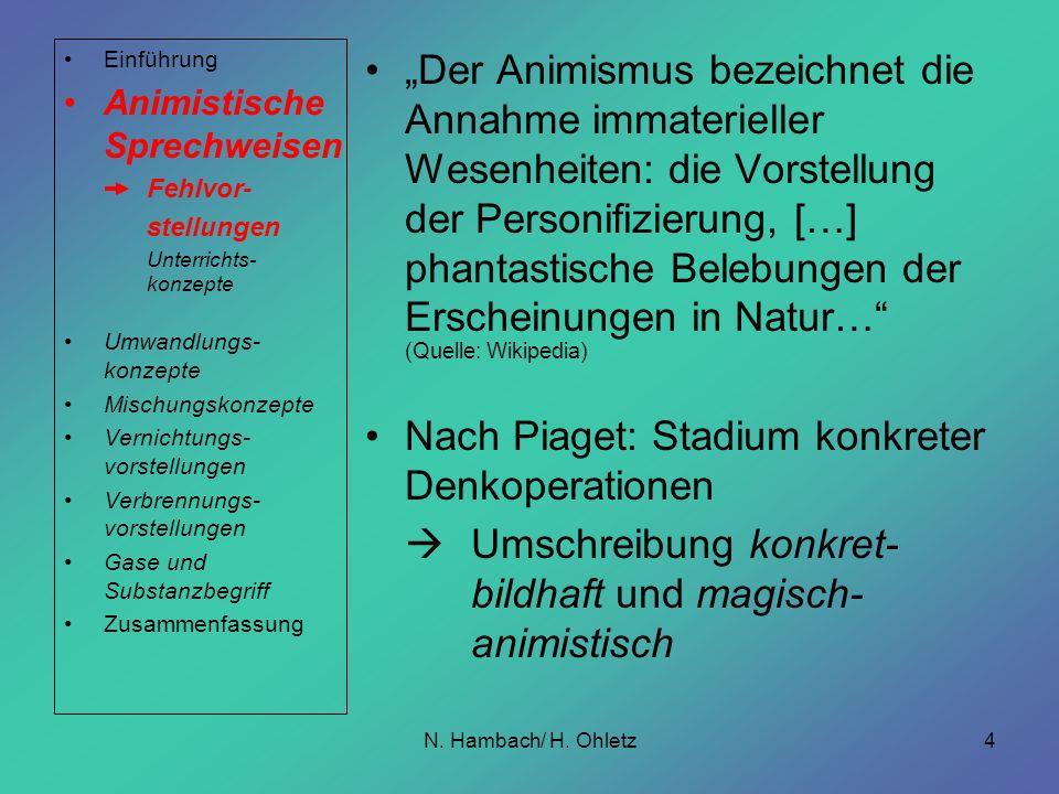 Nach Piaget: Stadium konkreter Denkoperationen