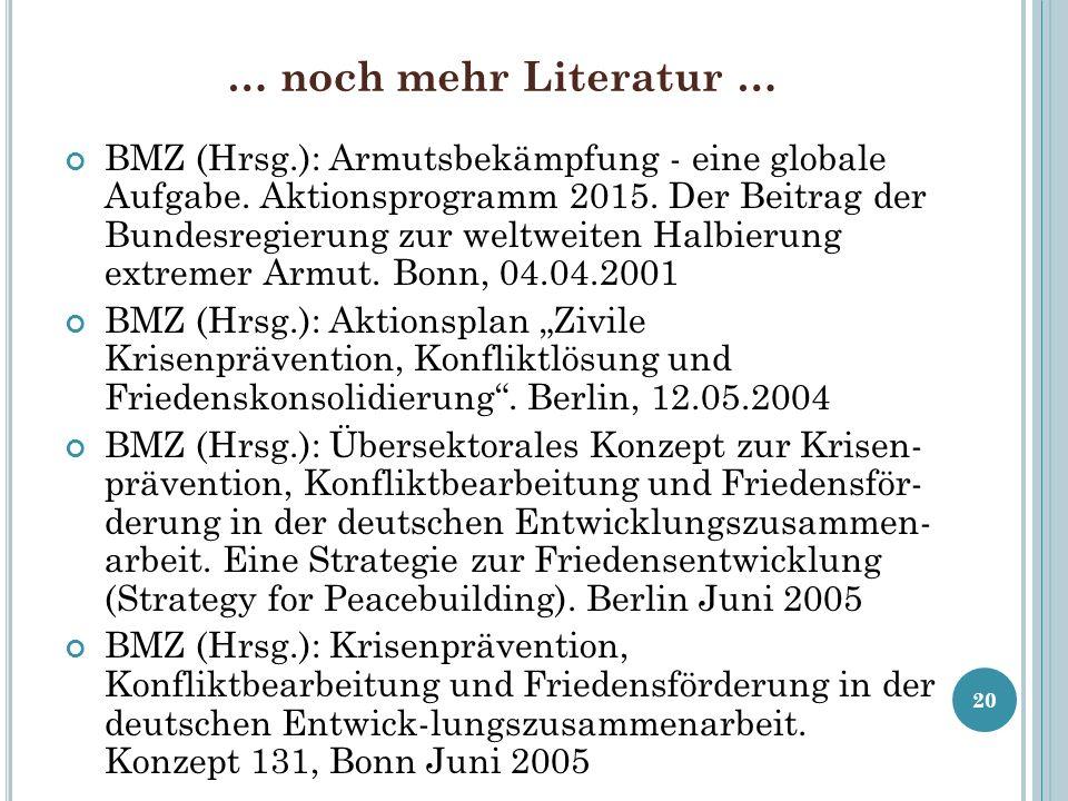 … noch mehr Literatur …