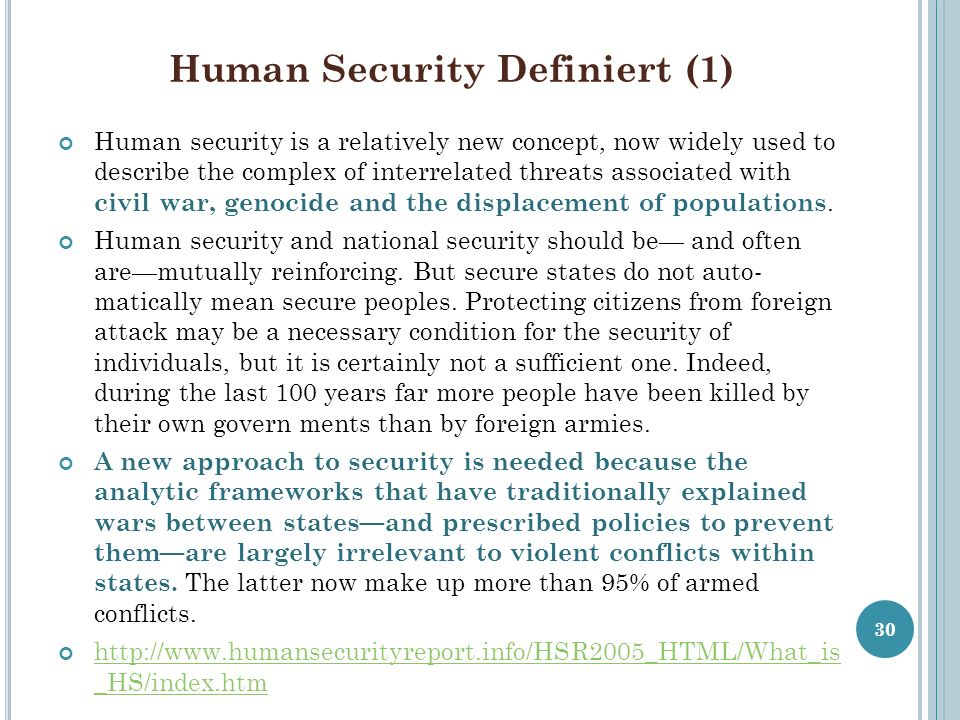 Human Security Definiert (1)