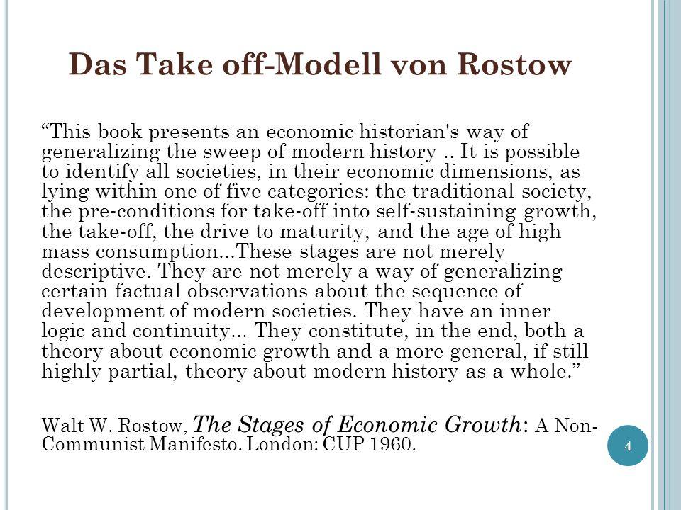 Das Take off-Modell von Rostow