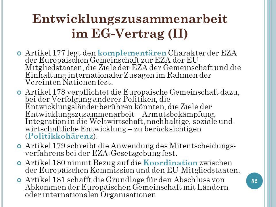 Entwicklungszusammenarbeit im EG-Vertrag (II)
