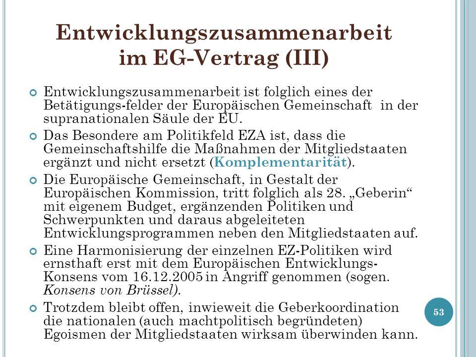 Entwicklungszusammenarbeit im EG-Vertrag (III)