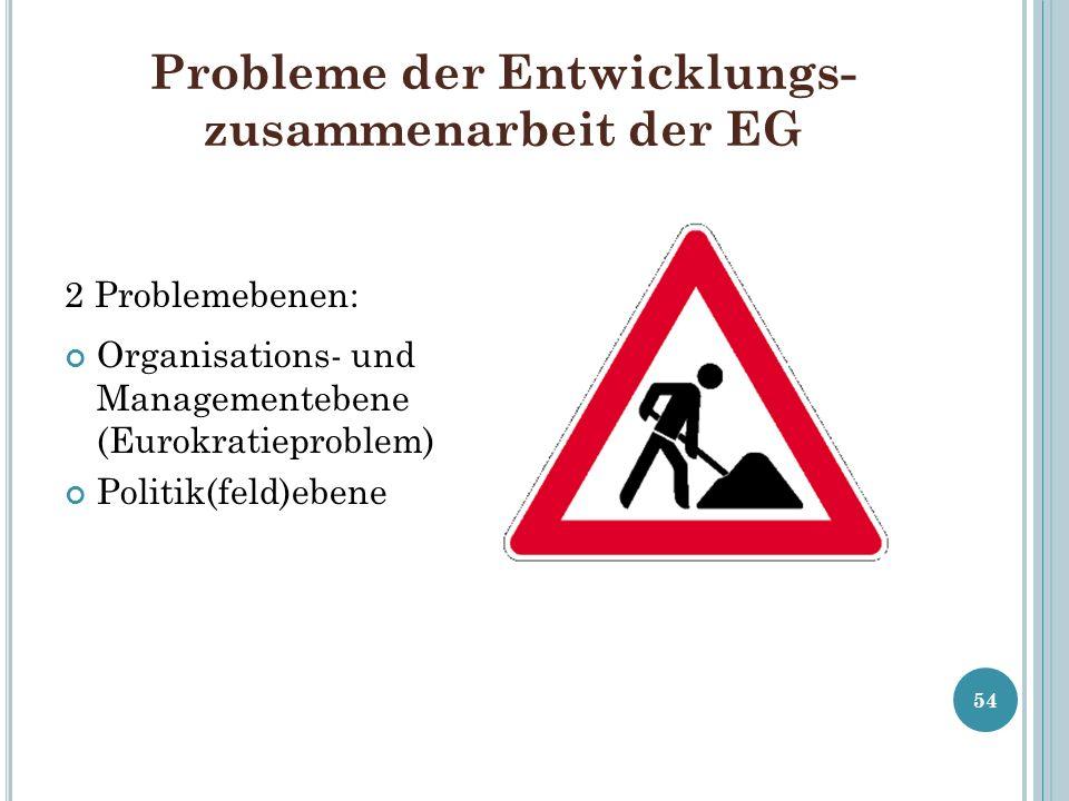 Probleme der Entwicklungs-zusammenarbeit der EG