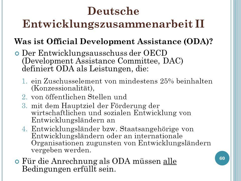 Deutsche Entwicklungszusammenarbeit II