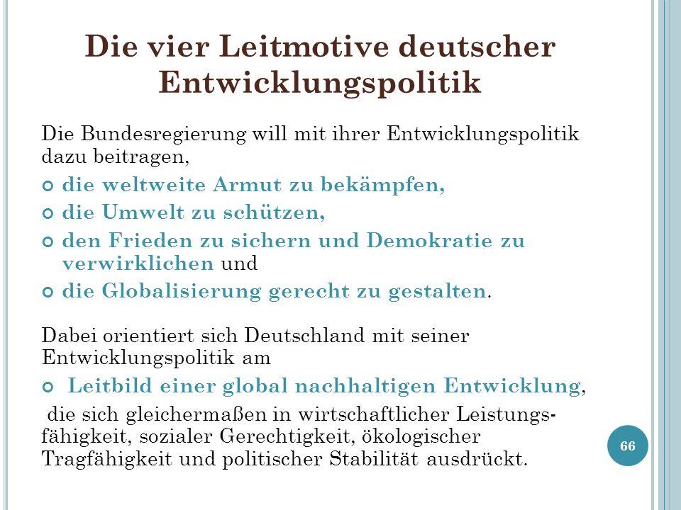 Die vier Leitmotive deutscher Entwicklungspolitik