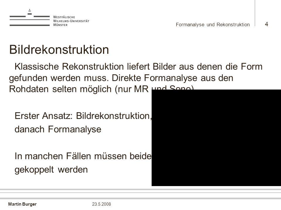 Formanalyse und Rekonstruktion