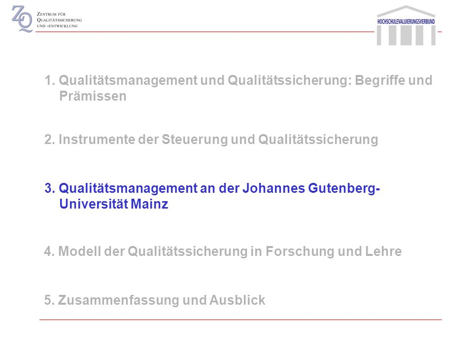 1. Qualitätsmanagement und Qualitätssicherung: Begriffe und Prämissen