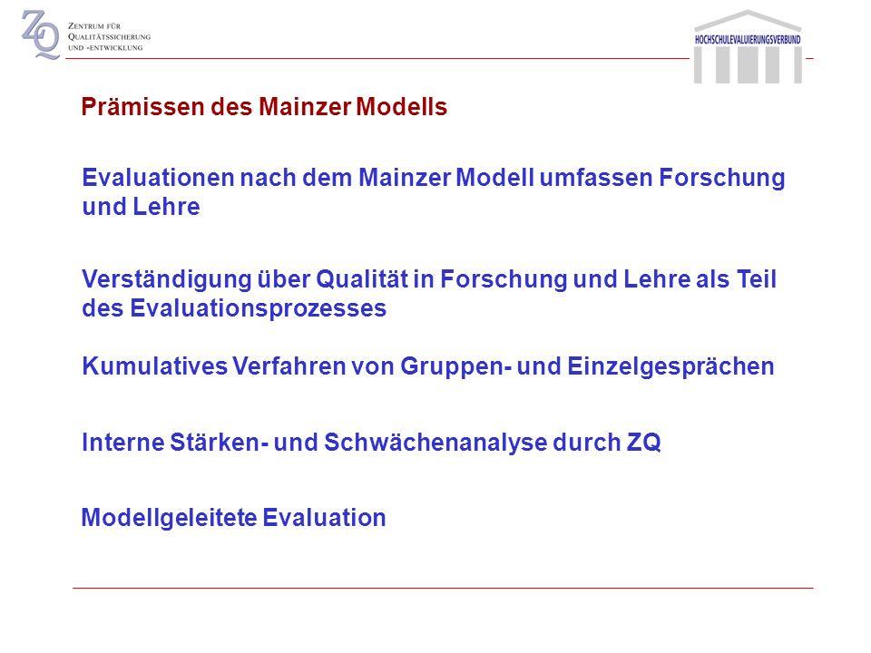 Prämissen des Mainzer Modells