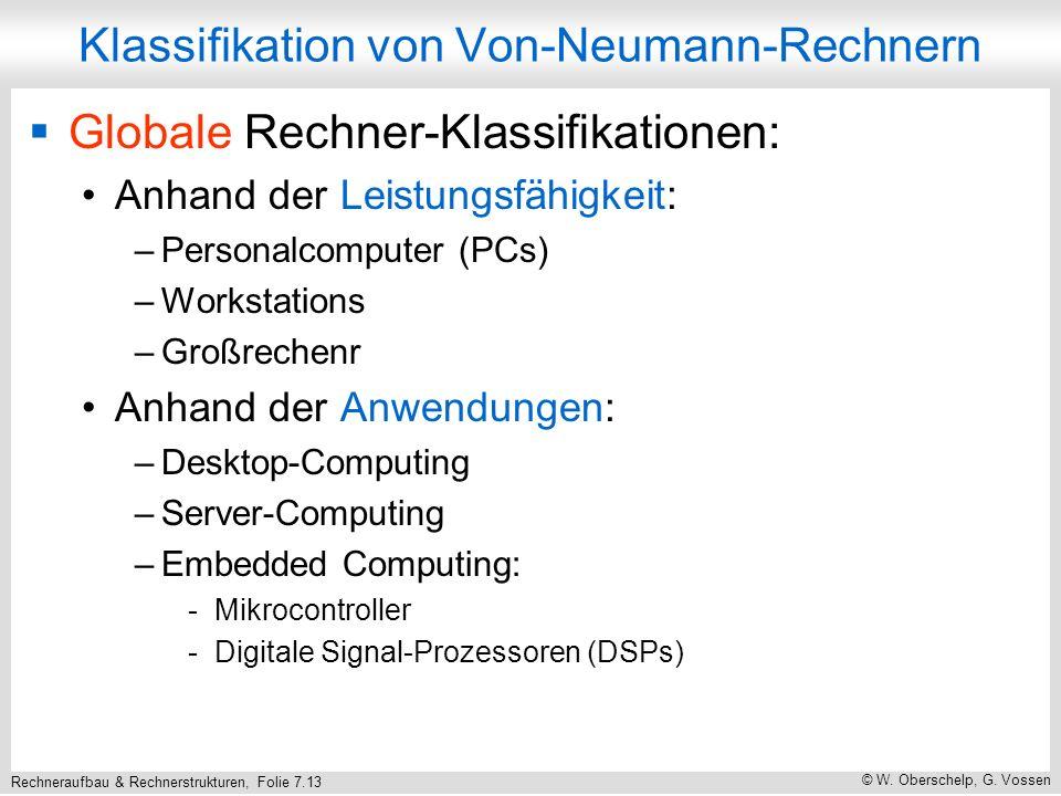 Klassifikation von Von-Neumann-Rechnern