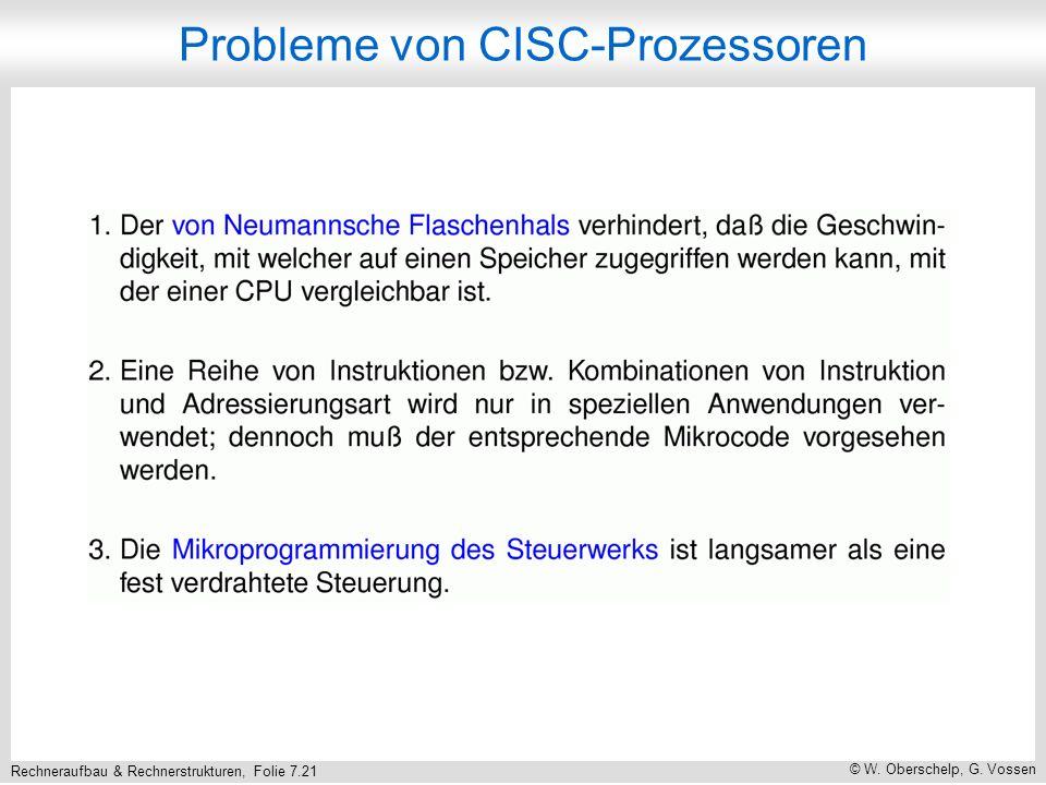 Probleme von CISC-Prozessoren