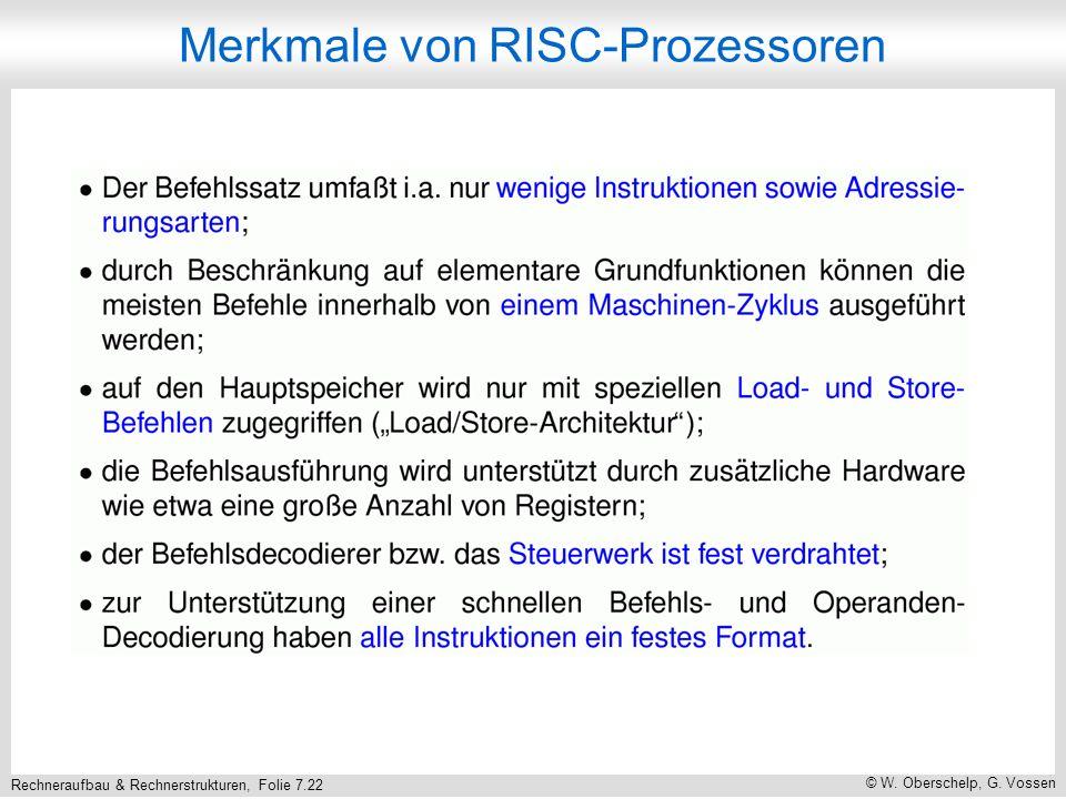 Merkmale von RISC-Prozessoren