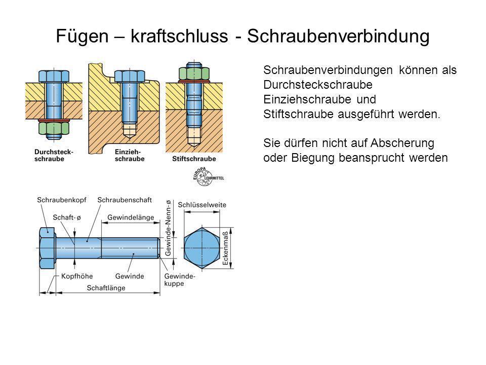 Fügen – kraftschluss - Schraubenverbindung