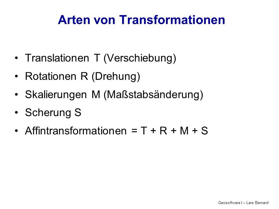 Arten von Transformationen