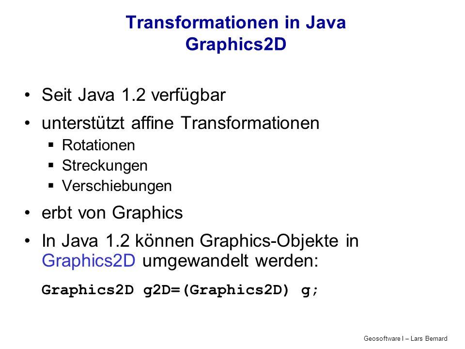 Transformationen in Java Graphics2D