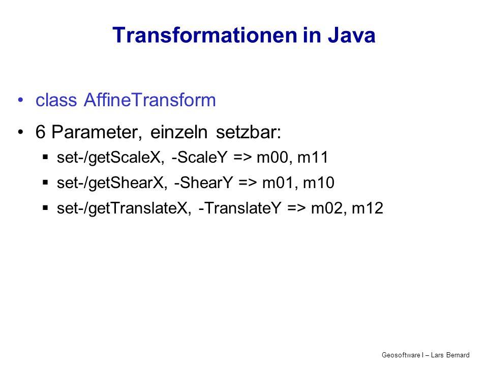 Transformationen in Java