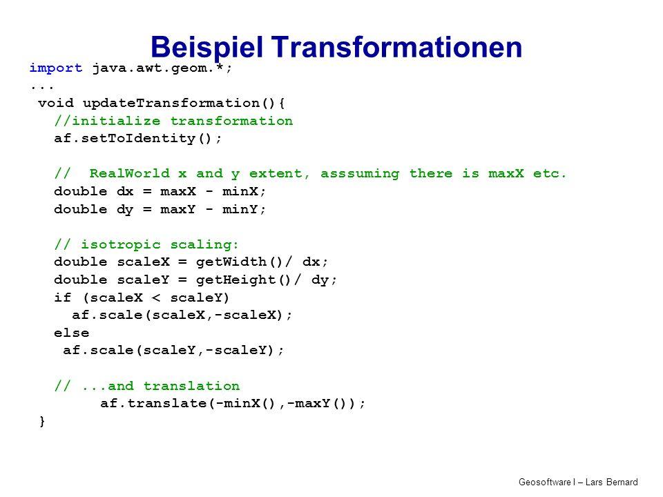 Beispiel Transformationen
