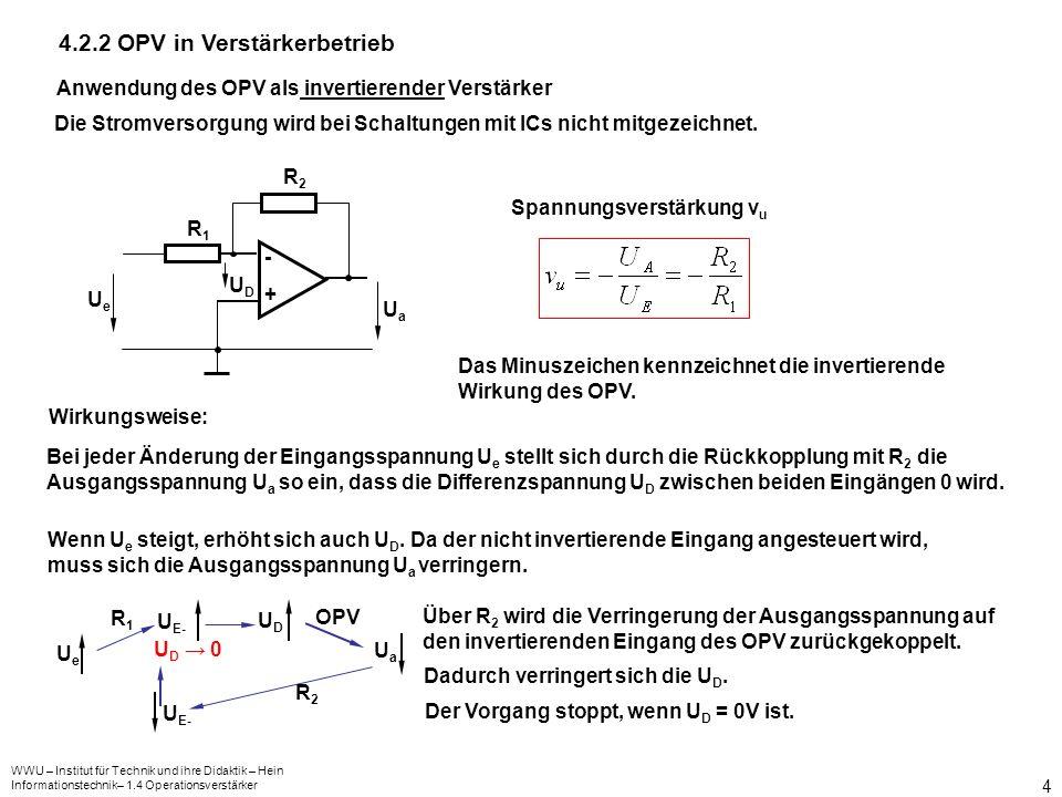 4.2.2 OPV in Verstärkerbetrieb