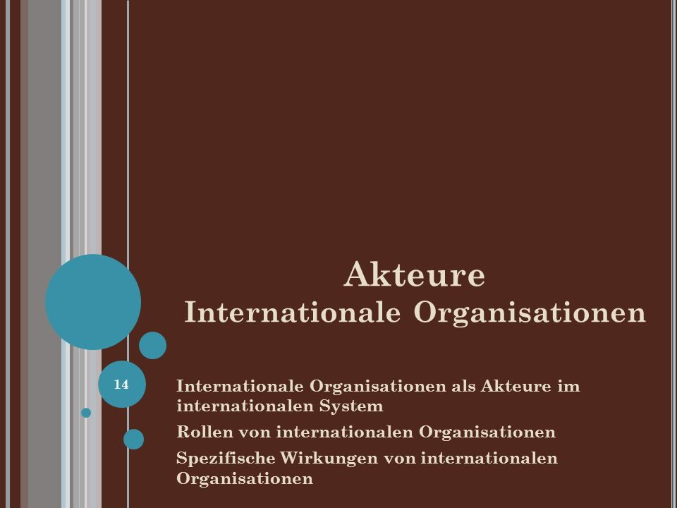 Akteure Internationale Organisationen