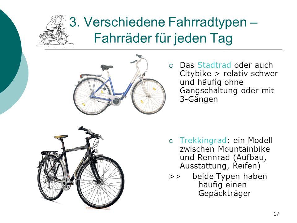 3. Verschiedene Fahrradtypen – Fahrräder für jeden Tag