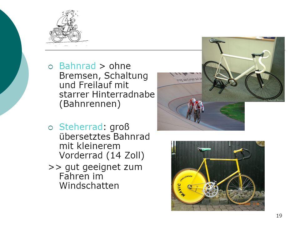 Bahnrad > ohne Bremsen, Schaltung und Freilauf mit starrer Hinterradnabe (Bahnrennen)