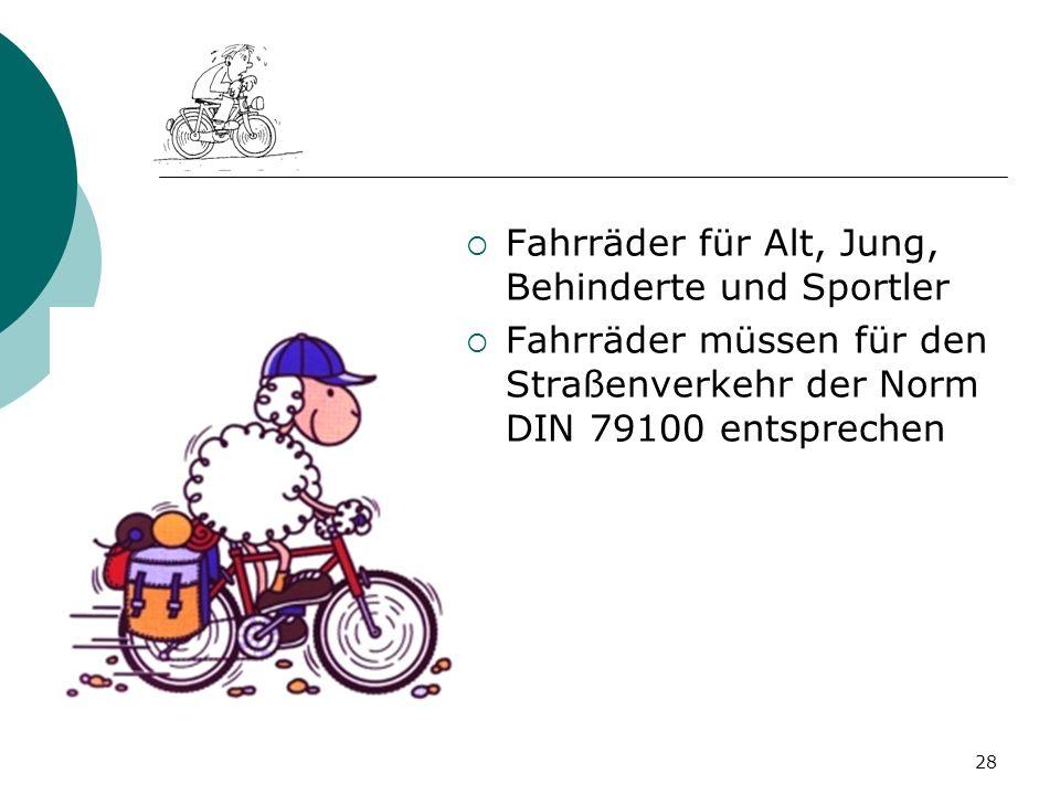 Fahrräder für Alt, Jung, Behinderte und Sportler