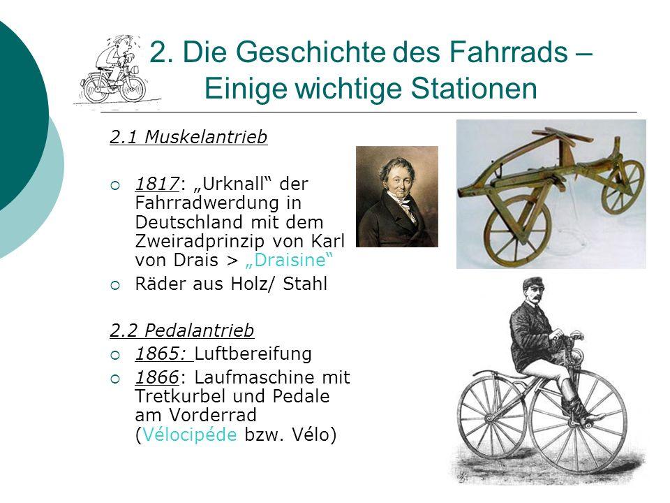 2. Die Geschichte des Fahrrads – Einige wichtige Stationen