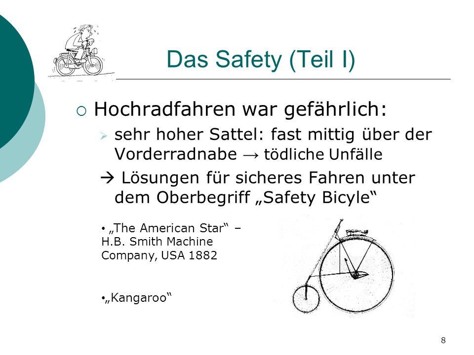 Das Safety (Teil I) Hochradfahren war gefährlich: