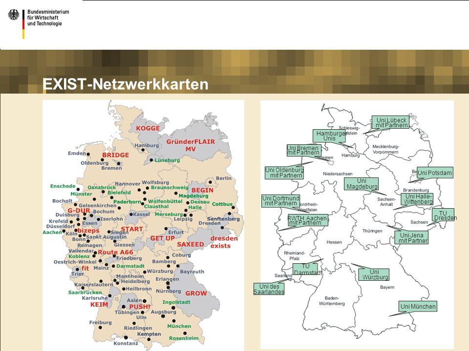 EXIST-Netzwerkkarten