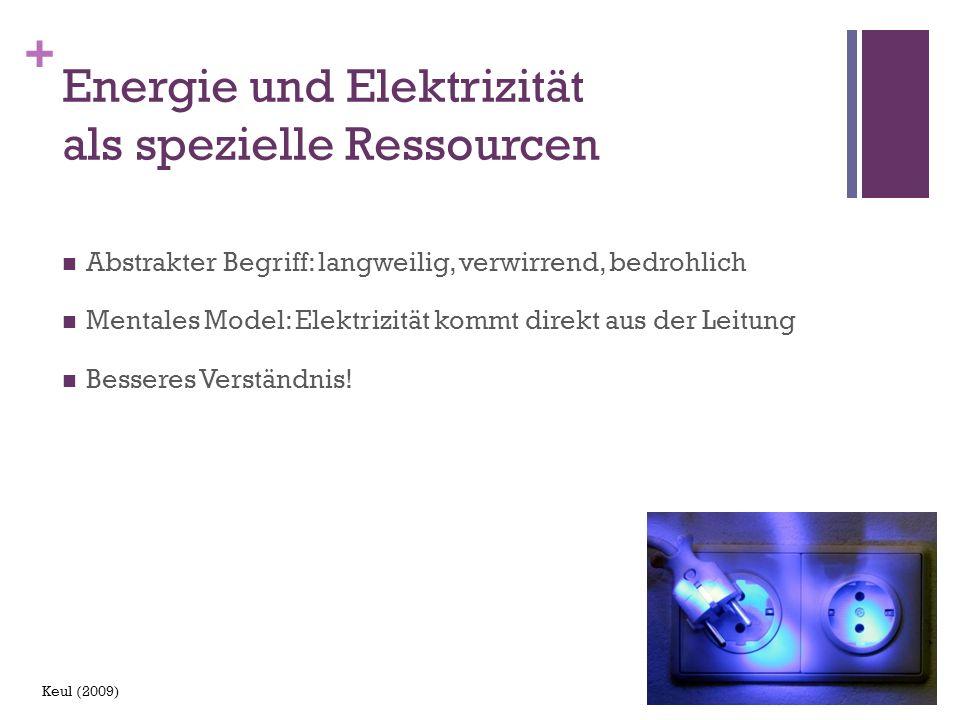 Energie und Elektrizität als spezielle Ressourcen