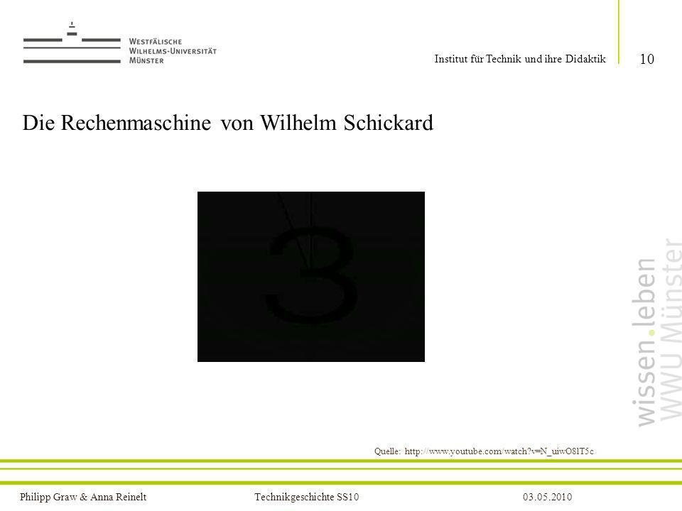 Die Rechenmaschine von Wilhelm Schickard