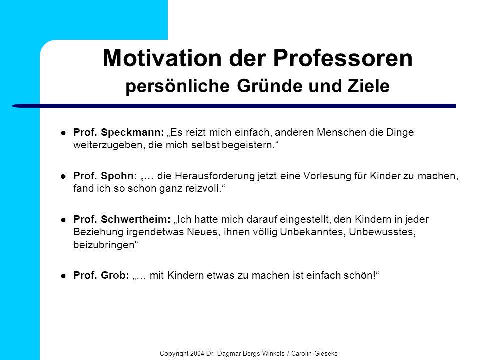 Motivation der Professoren persönliche Gründe und Ziele