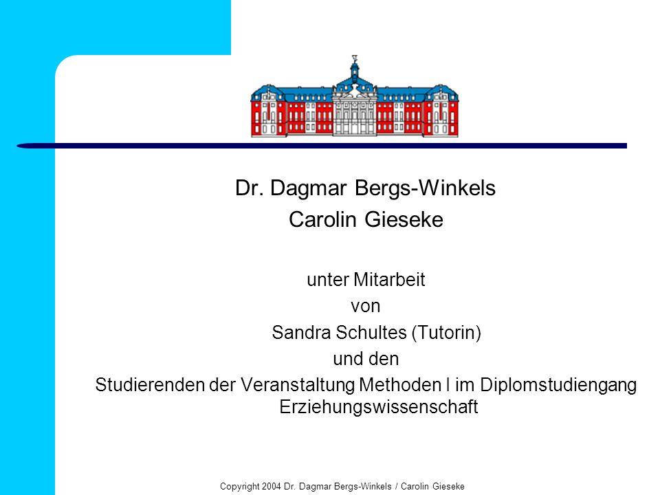 Dr. Dagmar Bergs-Winkels Carolin Gieseke