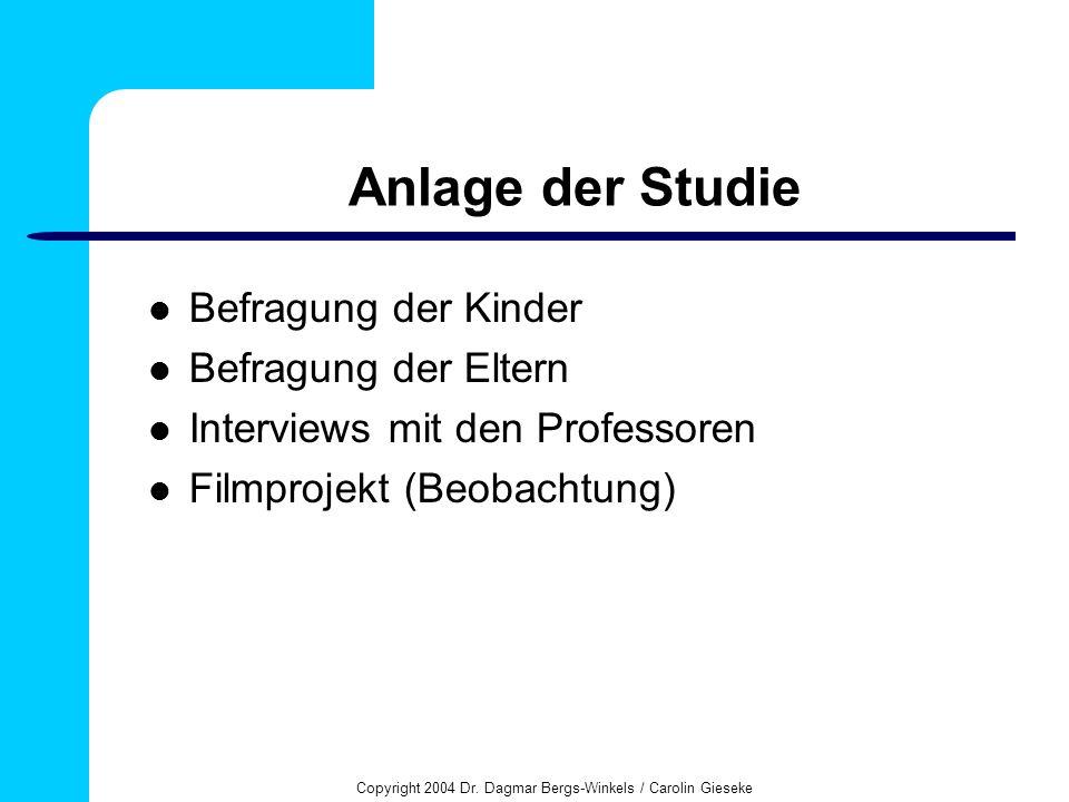 Copyright 2004 Dr. Dagmar Bergs-Winkels / Carolin Gieseke