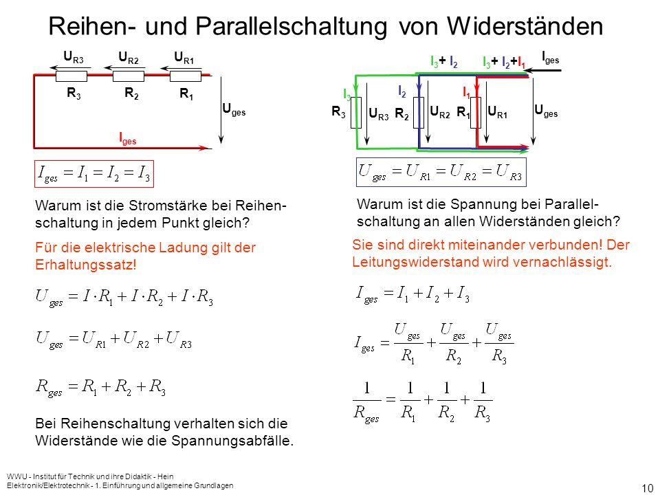 Reihen- und Parallelschaltung von Widerständen