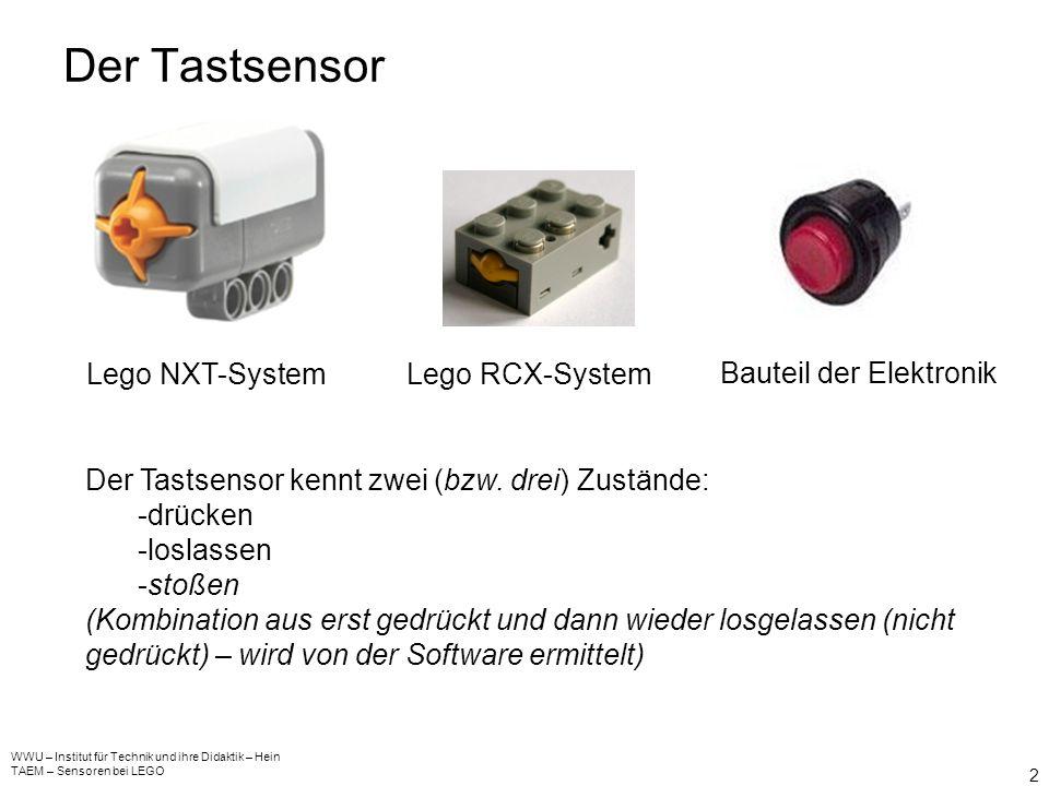 Der Tastsensor Lego NXT-System Lego RCX-System Bauteil der Elektronik