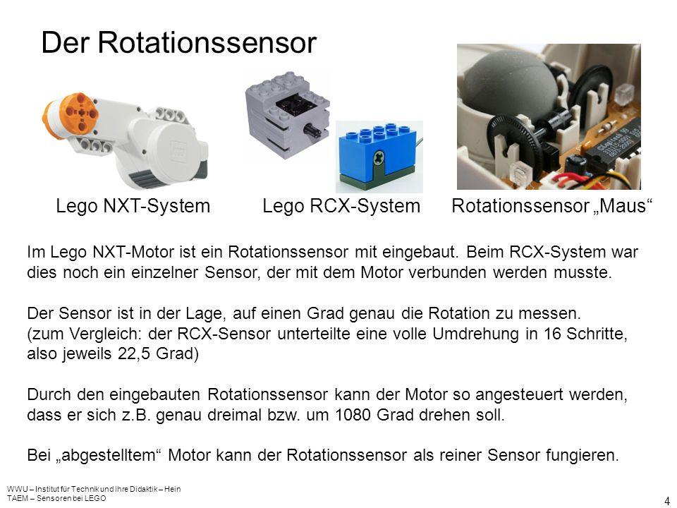 Der Rotationssensor Lego NXT-System Lego RCX-System