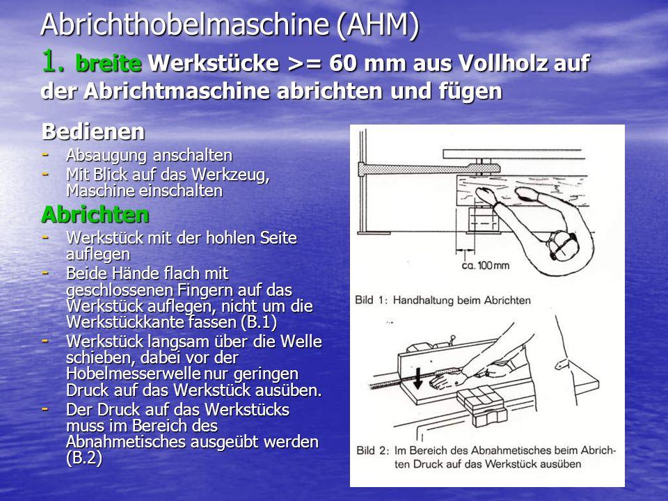 Abrichthobelmaschine (AHM) 1