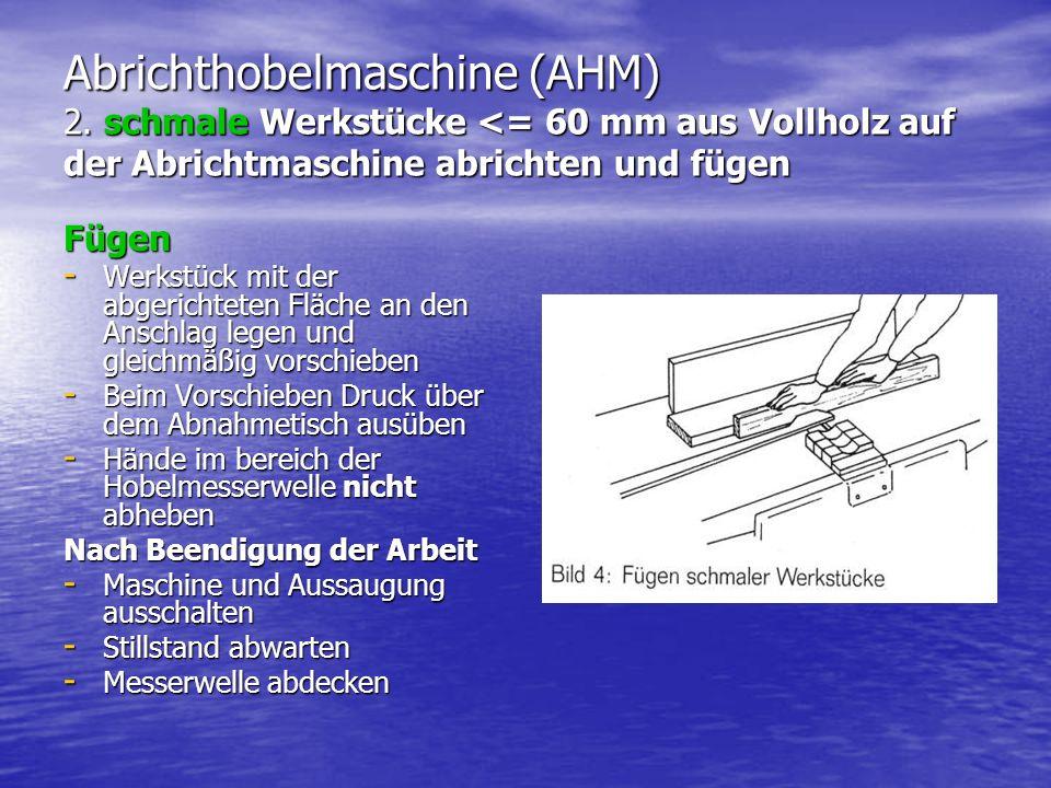 Abrichthobelmaschine (AHM) 2