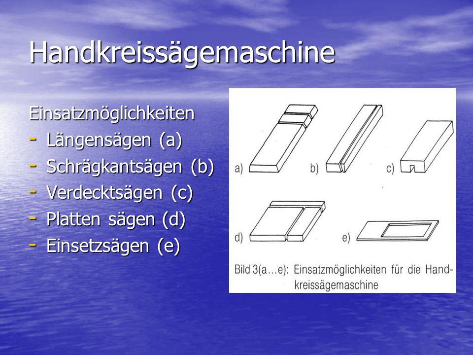 Handkreissägemaschine