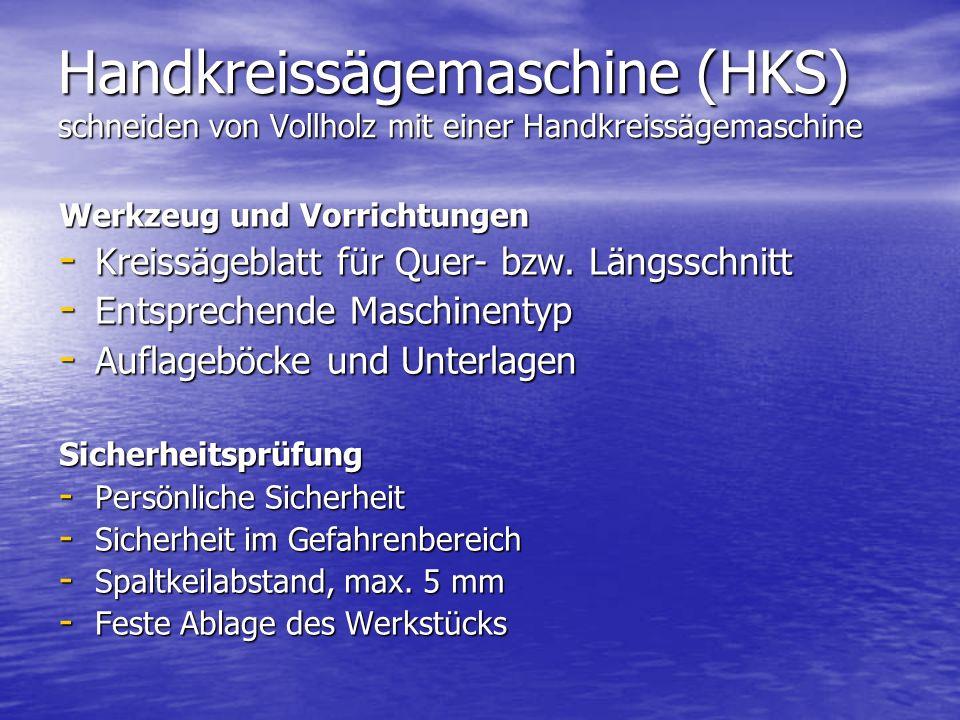 Handkreissägemaschine (HKS) schneiden von Vollholz mit einer Handkreissägemaschine