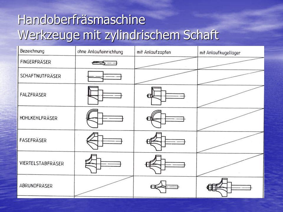 Handoberfräsmaschine Werkzeuge mit zylindrischem Schaft